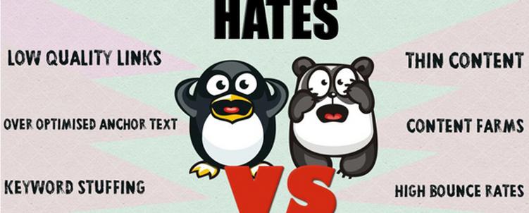 Googles Pinguin und Panda Update