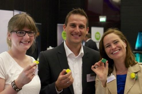 Christine Heller auf der IFA-Preview am Stand Ihres neuen Arbeitgebers digitalstrom.de