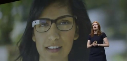 Screenshot Google IO 2012 Google Glass