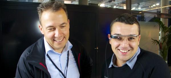 Interview mit Google Glass Nutzer auf der InsideAR
