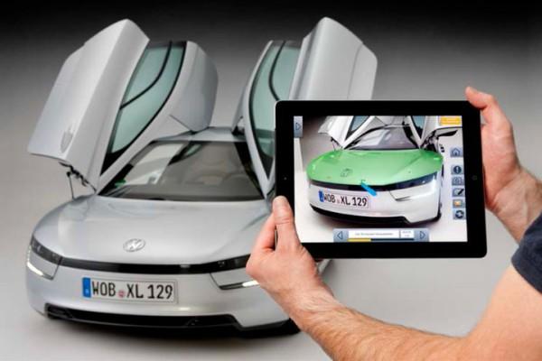 Augmented Reality in der Autoindustrie – Reparaturanwendung von Metaio für den VW XL1