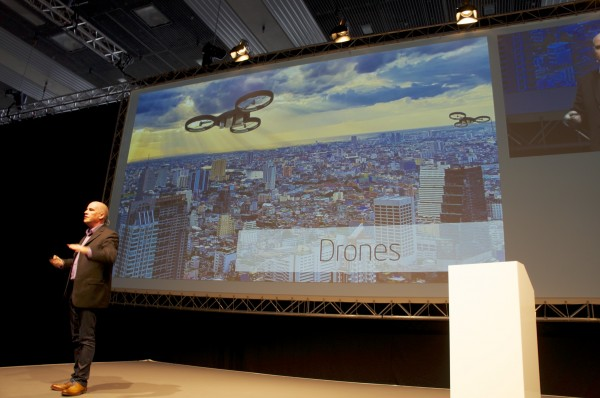 InsideAR 2013 München Steve Brown Intel talking about Drones