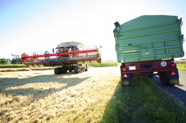 Industrie 4.0 auf dem Acker Getreide-Ernte Foto: Schleeh