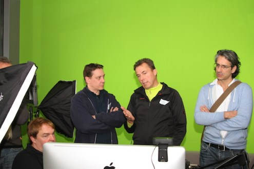 Streamcamp 2013 im Greenscreen Raum mit Boinx TV
