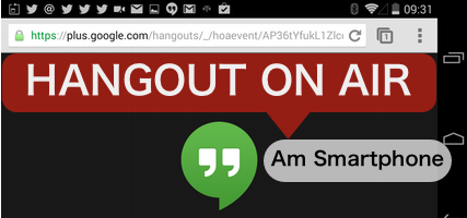 Hangout on Air am Smartphone Web RTC