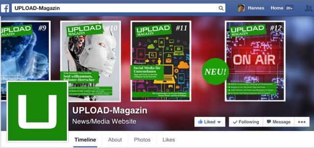 Upload Magazin Screenshot Facebook Page