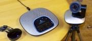 Betriebsbereit bluer LED-Ring leuchtet Logitech CC 3000e