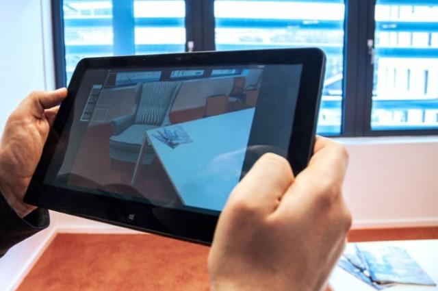 Richtige Darstellung virtueller Objekte in relation zu realen Objekten