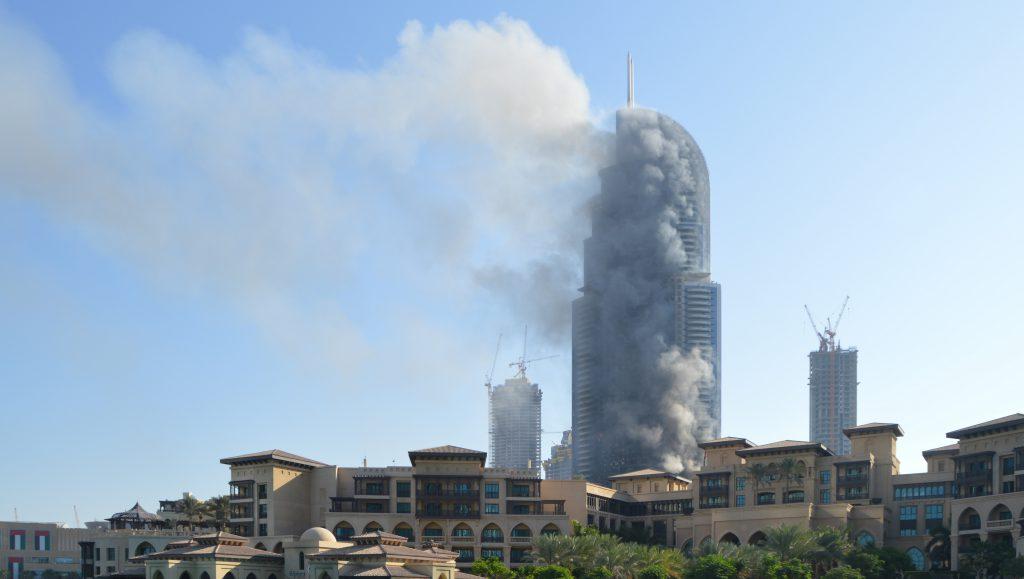 Zum Brand des Address Hotels in Dubai