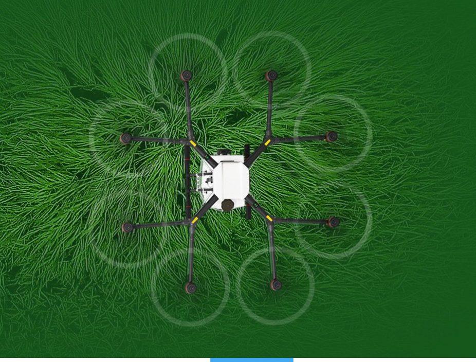 Fliegende Pflanzenschutzspritze AGRAS von DJI bei Globeflight erhältlich #Drohne
