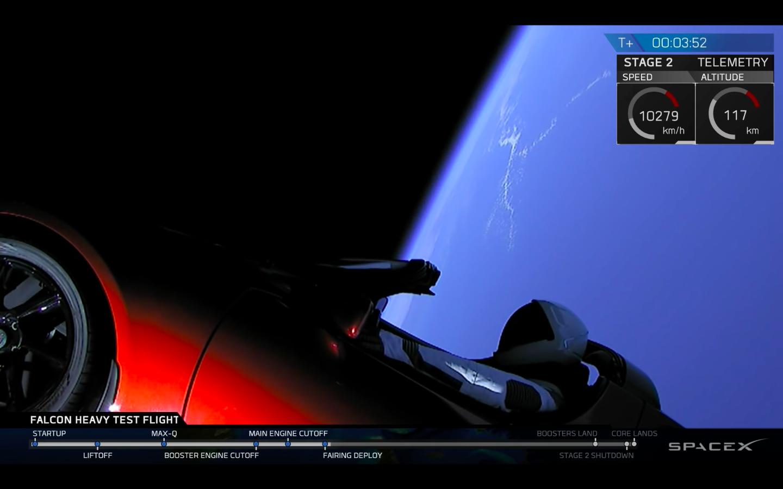 Das erste Elektroauto im All – Elon Musk schickt Roadster als Nutzlast