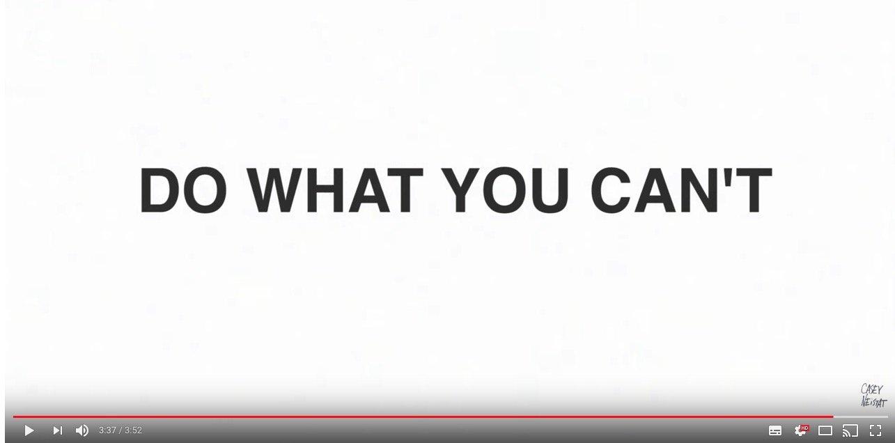 Mach was Du nicht kannst!